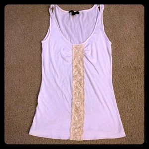 Express Cotton Lace and Sequin Tank
